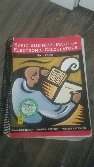Basic Business Math and Electronic Calculators Sixth Edition for Sale in Spokane, WA