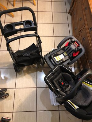 Graco newborn car seat, base and stroller for Sale in Miami Beach, FL