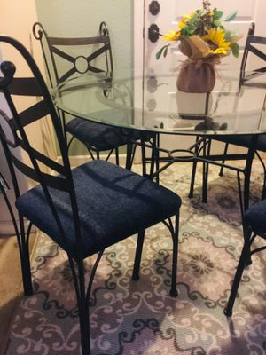 Black and Blue Dining Table for Sale in Modesto, CA