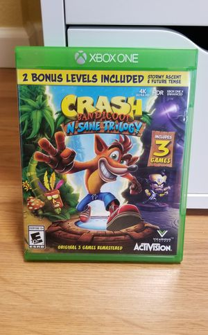 Crash Bandicoot N. Sane Trilogy - XBOX ONE, FIRM PRICE, NO TRADE for Sale in Garden Grove, CA