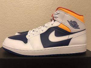 Jordan 1 Mid white , laser orange size 12 for Sale in Arlington, TX