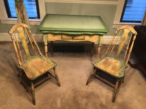 Antique porcelain table with chairs for Sale in Butler, PA