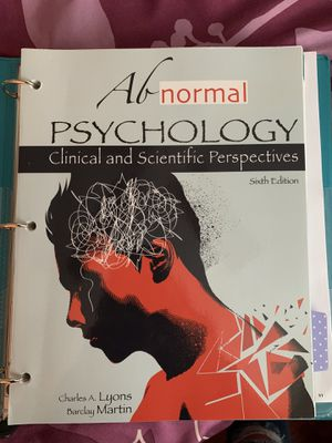 Abnormal Psychology 6th E. Charles A. Lyons for Sale in Walnut, CA