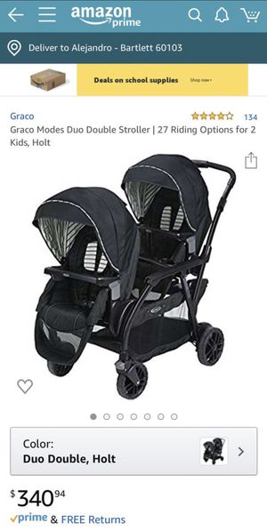 Graco dual double stroller for Sale in Bloomingdale, IL