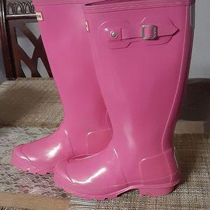 Pink Hunter rain Boots #5 for Sale in Stockton, CA