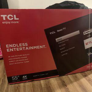 "TCL 55"" Class 4K UHD LED Roku Smart TV for Sale in Camden, NJ"