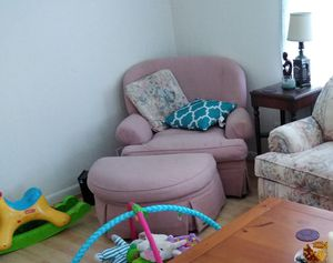 Pink chair and ottoman for Sale in Sylacauga, AL