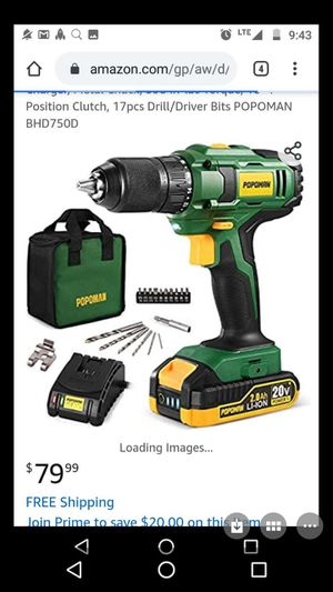 New drill with 20 v battery for Sale in Rockville, MD
