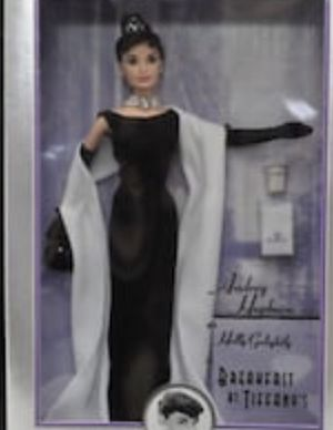 New In Box Never Opened Mattel Audrey Hepburn in Breakfast at Tiffany's Barbie Doll, 1998 for Sale in North Canton, OH