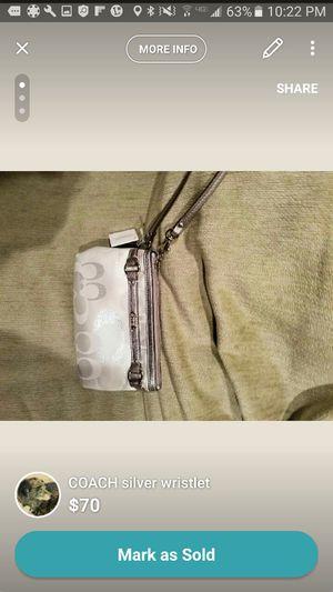 Coach silver wristlet, sales tag still attached! for Sale in Warren, MI
