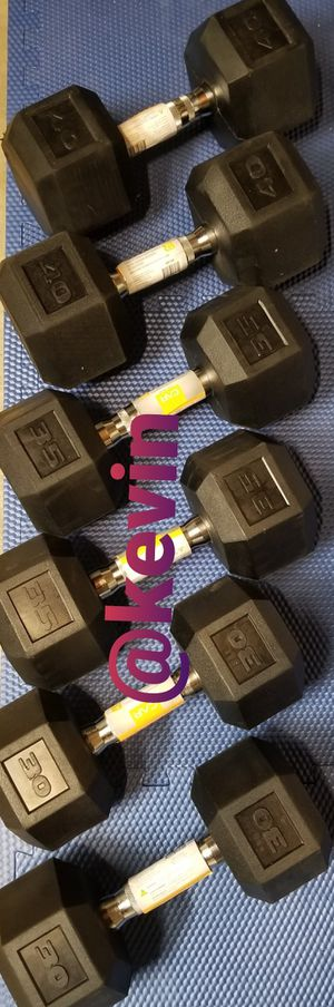 Dumbbell set pair of 30's,35's a d 40's for Sale in Rialto, CA