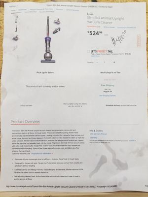 New Dyson Slim Ball Animal Upright Vacuum Cleaner for Sale in Arlington, TX