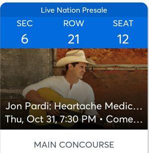 Two jon pardi tickets for Sale in Phoenix, AZ