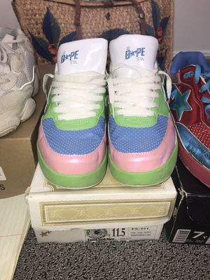 Bape Roadsta sz 11.5 jade/ pink FS-001 for Sale in Baltimore, MD