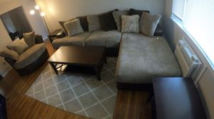 Brand new sectional, ottoman, coffee table and 2 end tables for Sale in Englishtown, NJ