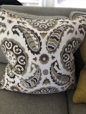 LARGE COUCH PILLOWS. $30 for set $12 each pillow for Sale in Ontario, CA