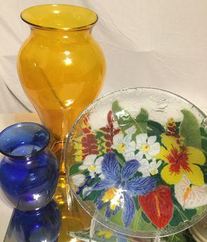 COLORFUL Glass TRIO❤️💛🧡💚💙💜!!! for Sale in Bakersfield, CA