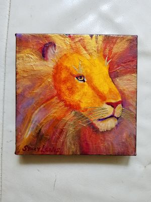 Lion Hand painted signed painting for Sale in Marietta, GA