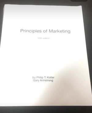 Principles of Marketing 16th E for Sale in Jacksonville, FL