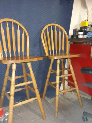 Solid Oak Swivel Bar/Table/Pub Chairs for Sale in Indianapolis, IN
