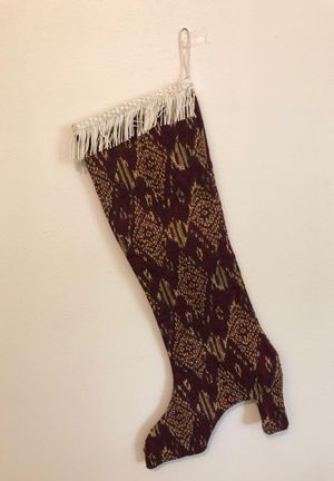 Stunning designer tapestry, high heel Christmas stocking for Sale in Columbia, MO