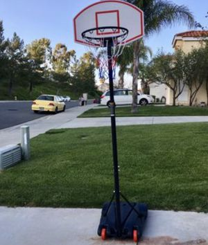 "Kids Basketball Hoop Portable Junior Height-Adjustable 28"" Stand Backboard System W/ Wheels Sports, Outdoors (New) for Sale in Beverly Hills, CA"