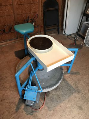 Fully restored custom pottery wheel (electric/kick) for Sale in Austin, TX