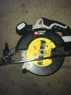 PORTER-CABLE 20-volt Max 6-1/2-in Cordless Circular Saw with beveling shoe for Sale in Longview, TX