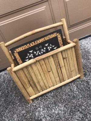 Vintage bamboo magazine rack or record holder for Sale in Tacoma, WA