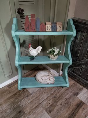 Teal Distressed Wall Hanging Shelve for Sale in Denton, TX