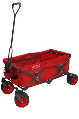 Creative Outdoors all-terrain foldable wagon. Red for Sale in Evansville, IN