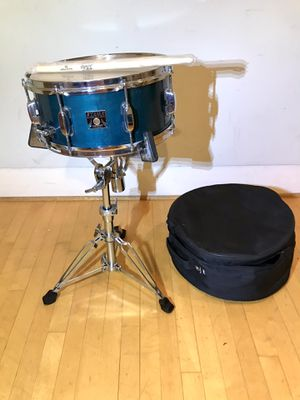 "Tama superstar classic maple Turquoise 14 inch snare 14x6"" drum heavy duty quick release Stand roadrunner travel bag case new sticks and key $150 in for Sale in Chino, CA"