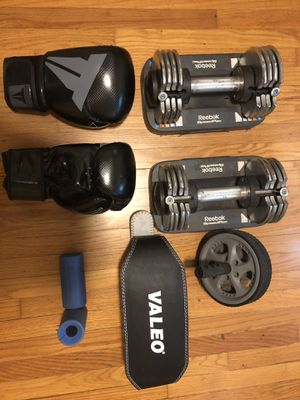 Various Exercise equipment (boxing gloves, dumbbells, weight belt etc) for Sale for sale  Los Angeles, CA