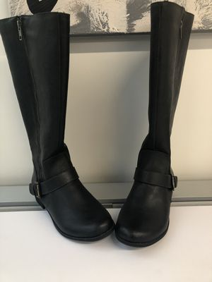 New Aerosoles brand leather tall black boots, size 7.5 for Sale in Alsip, IL