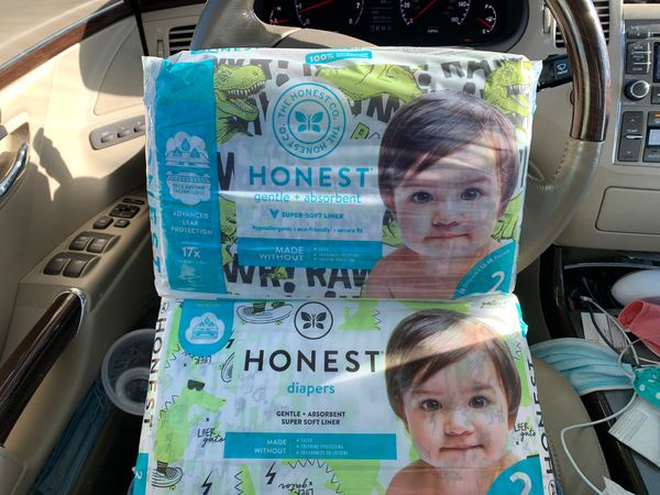 Pampers size 1 sleeve & 2 pack of honest diapers! 15! Total bulk baby diapers