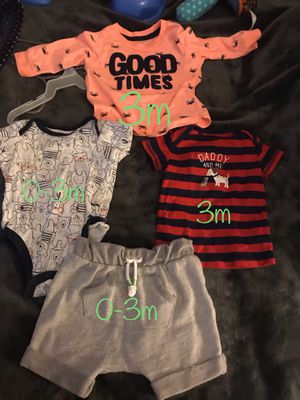 Baby clothes size 0-3 and 3m for Sale in Brentwood, MD