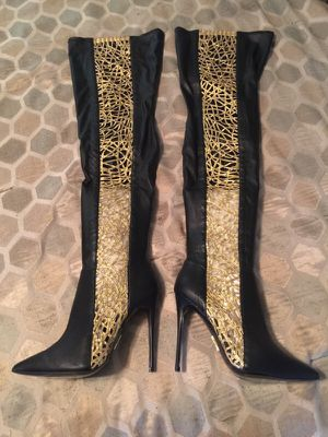 Brand New Thigh High Dawn Richard Heel Boots for Sale in Clearwater, FL