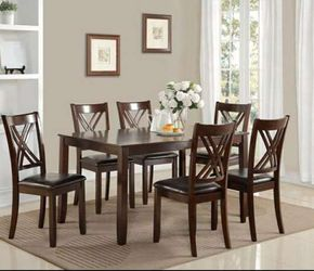 CLOSEOUTS LIQUIDATIONS SALE BRAND NEW 7PC DINING TABLE SET INCLUDES TABLE AND 6 CHAIRS ALL NEW FURNITURE CM2430 for Sale in Ontario,  CA