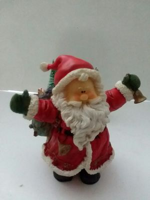 COLLECTIBLE RESIN SANTA WITH TOY SAK for Sale in Elsmere, DE