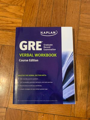 GRE Kaplan Verbal Workbook for Sale in St. Louis, MO