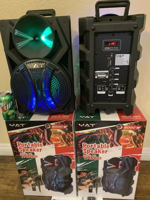Big bluetooth speaker 🔊 led lights, mic, rechargeable & remote for Sale in Las Vegas, NV