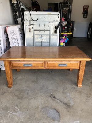 Real solid wood coffee table and 2 end tables for Sale in Fresno, CA