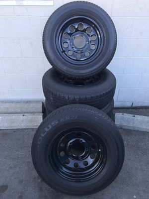 Good condition rims, tires still good but old. Came off a 88 Suzuki samurai. $150 . 5pcs for Sale in South Gate, CA