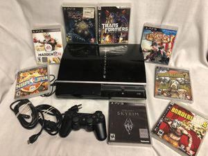 PS 3 system complete w 8 video games for Sale in Snellville, GA