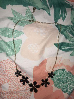 Black Flower Necklace for Sale in Stanton, CA