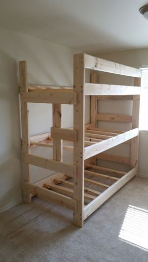 New solid wood Triple bunk bed for Sale in Milwaukie, OR