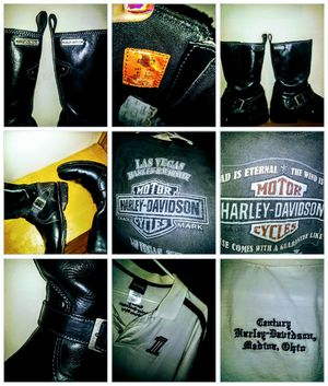 Harley Davidson Mens Size 101/2 riding boots & more for Sale in Parma Heights, OH