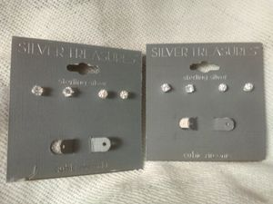 Sterling silver cubic zirconia studs for Sale in Portland, OR