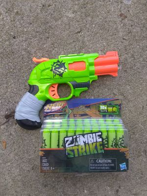 Zombie strike Nerf gun with bullets for Sale in Reynoldsburg, OH