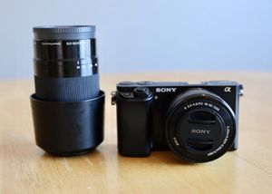 Sony a6000 with 16-50mm lens and 55-210mm lens for Sale in Lansdowne, VA